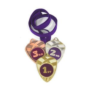 Медали Д189Модерн фиолетовая купить для награждения