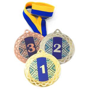 Медали спорт Д254 Синяя купить для награждения