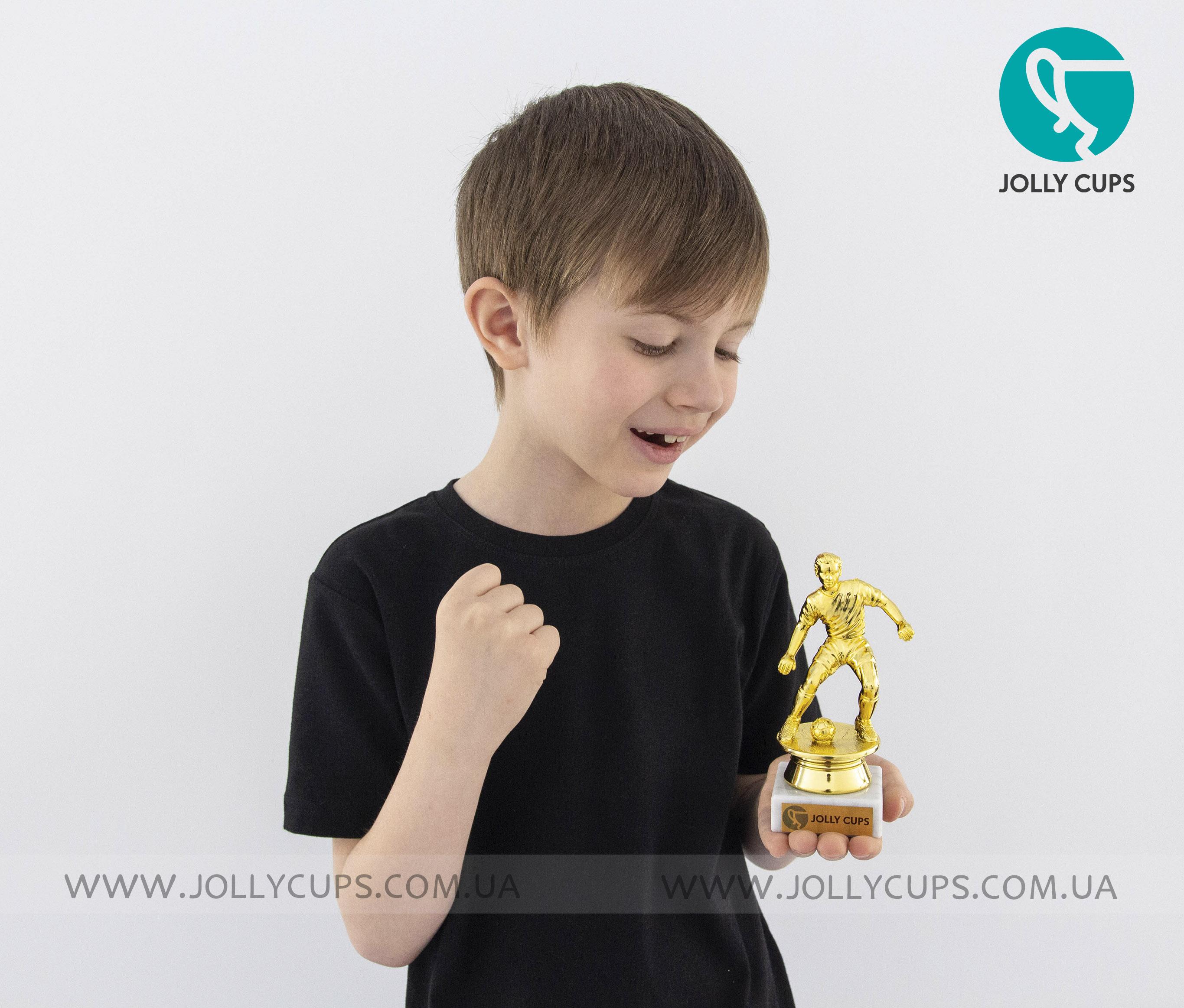Купити статуетки нагороди для дітей Футбол нападник