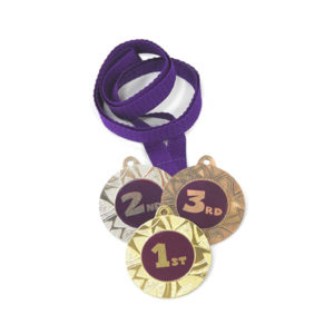 Медали Д257 Фиолетовая купить для награждения