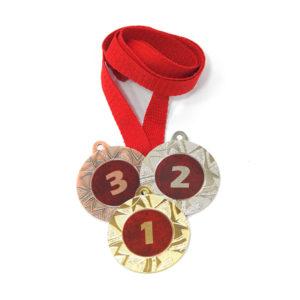 Медали Д257 Модерн красная купить для награждения