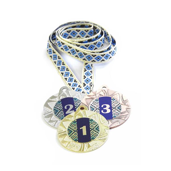 Медали Д257 Синяя вышиванка купить для награждения