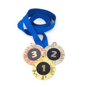 Медали Д257 Модерн синяя купить для награждения