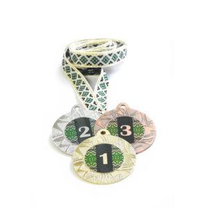 Медали Д257 Зелёная вышиванка купить для награждения