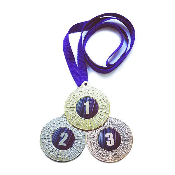 Медали спорт Д367 Фиолетовая купить для награждения