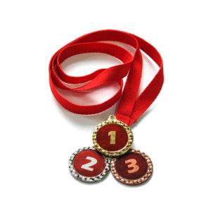 Медали Д621 Модерн красная купить для награждения